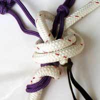 tying soft hackamore step 4